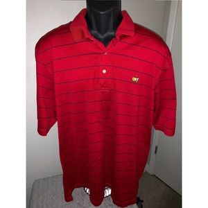Oxford Golf The Master's Mens Polo Shirt Large Red
